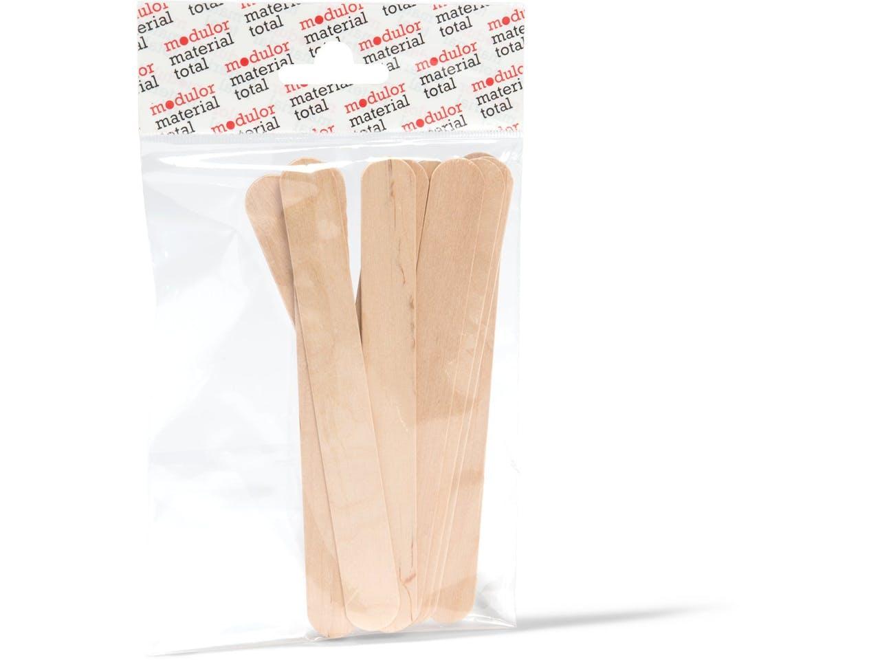 Holzrührspatel, l = 150 mm, b = 20 mm, 10 Stück