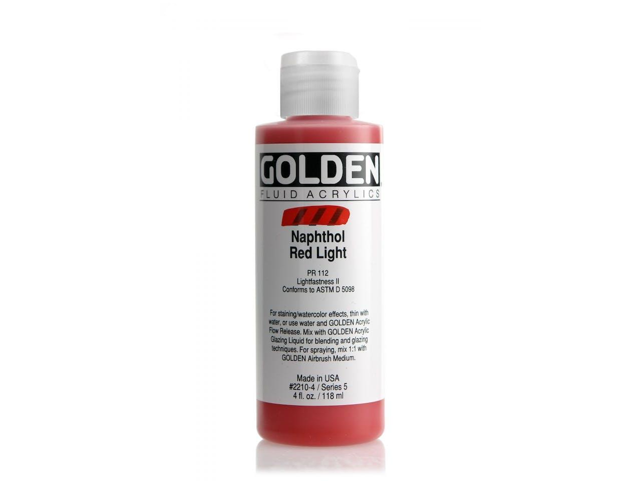 Golden Acrylfarbe Fluid, Flasche 118 ml, Naphthol Red Light (2210)
