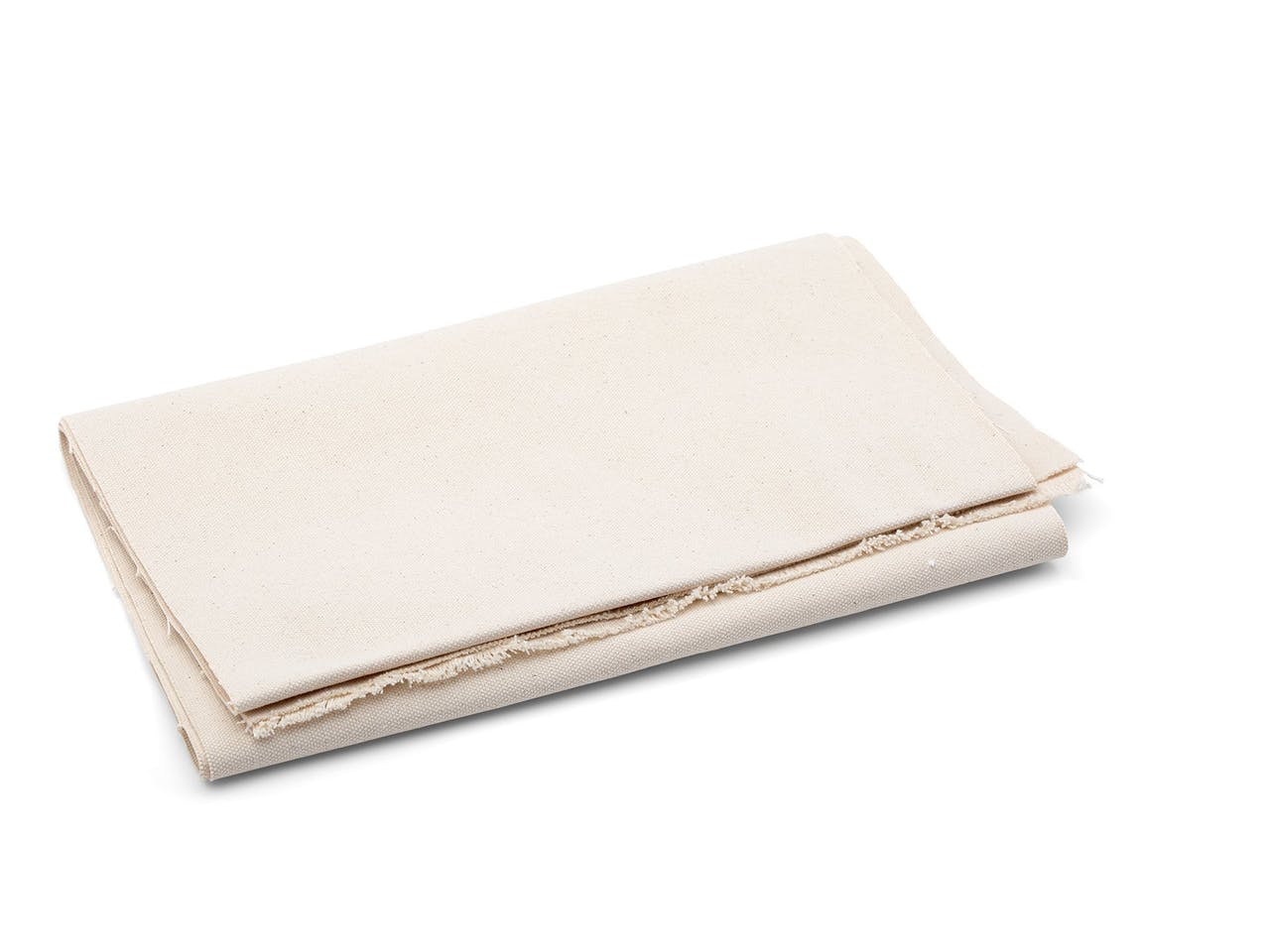 Baumwolle Nessel Standard uni, 760 g/m², b=1,5 m, Leinwandbindung, rohweiß, Segeltuch