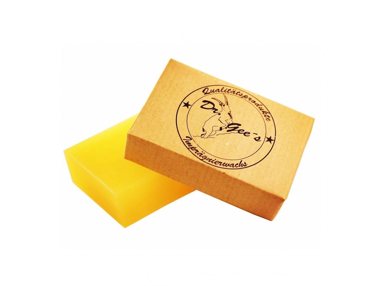 Dr.Gee's Imprägnierwachsblock für Baumwolle, Bienenwachs, Paraffin, lebensmittelecht, 100 g