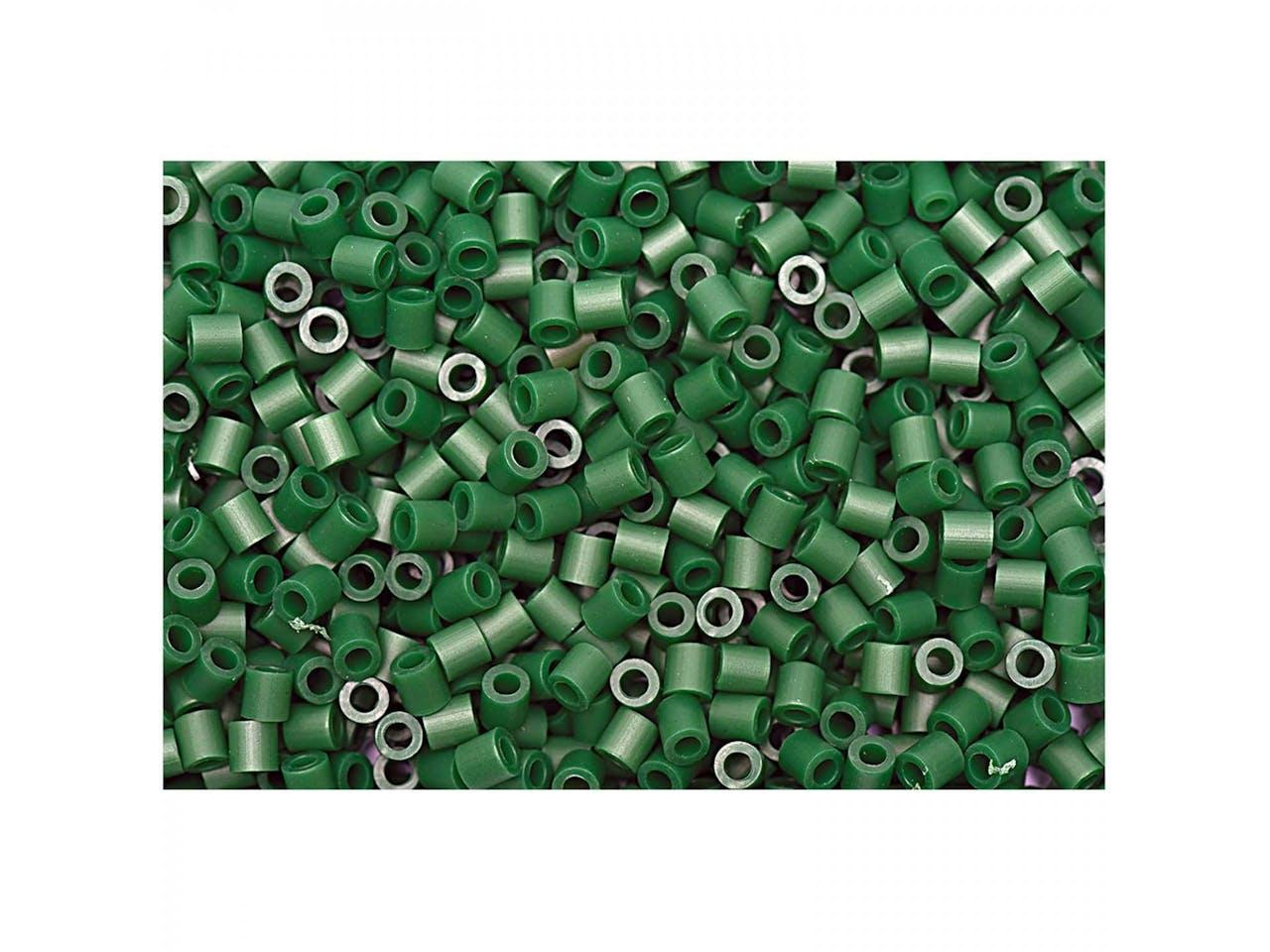 Bügelperlen, 50 x 50 mm, ca. 1000 Stück, tannengrün