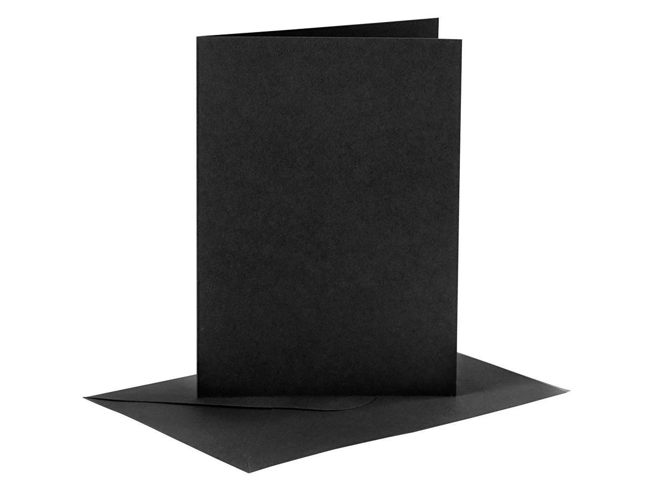 Blankokarten-Set, je 6 Klappkarten A6 & Kuverts C6, schwarz