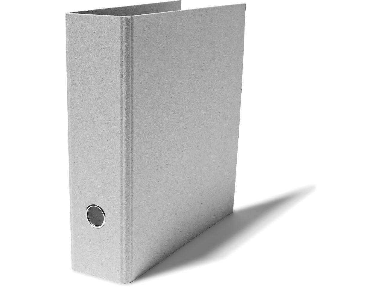 Modulor Ordner, Graukarton, für DIN A4, Rückenbreite 80 mm