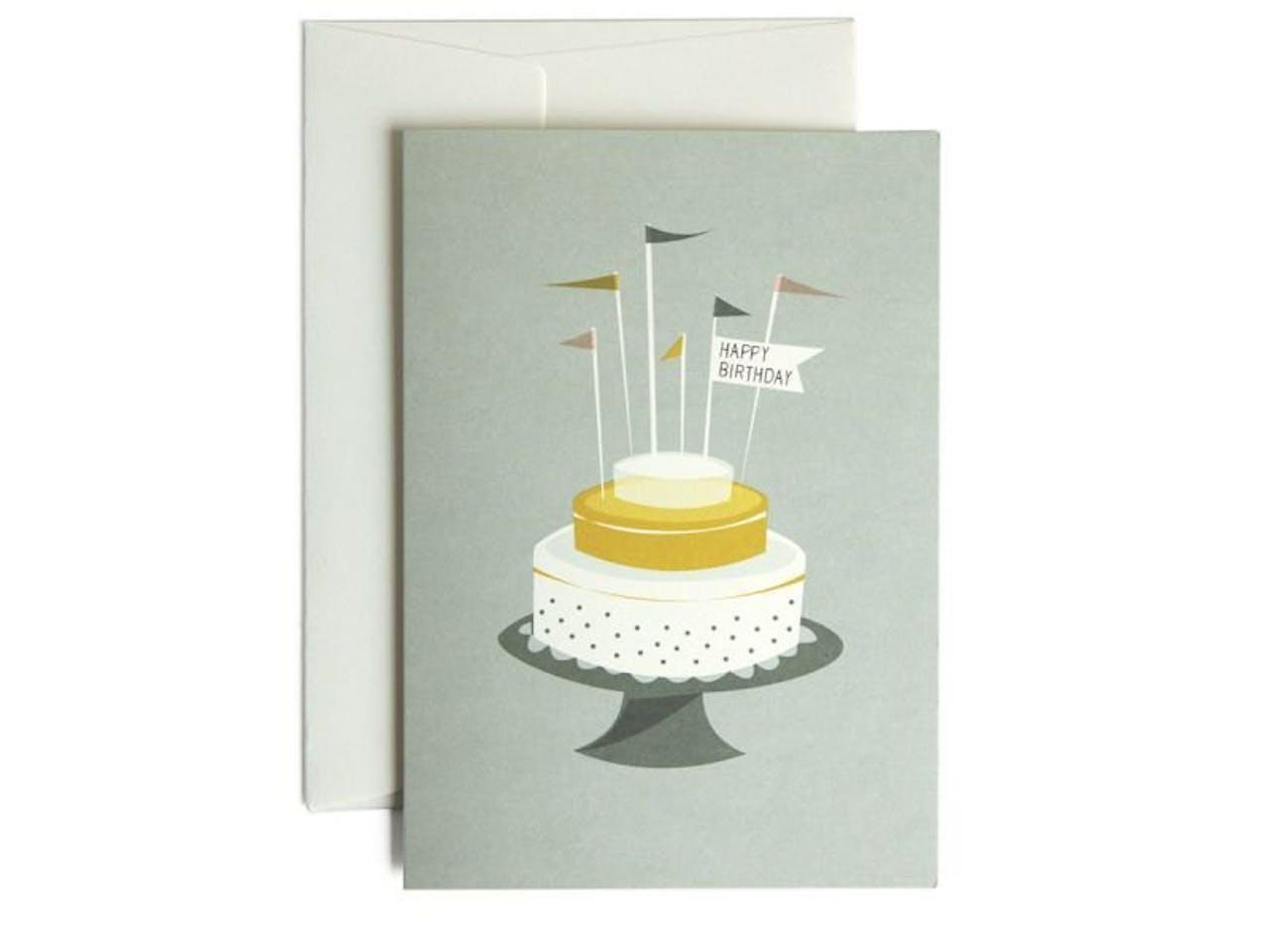 Pleased to meet Grußkarte, DIN A6/C6, Klappkarte mit Kuvert, Birthday Cake
