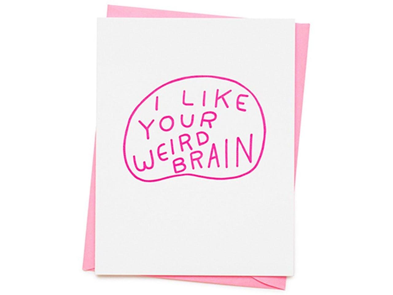 Ashkahn Grußkarte mit Kuvert, DIN A6/C6, Weird brain