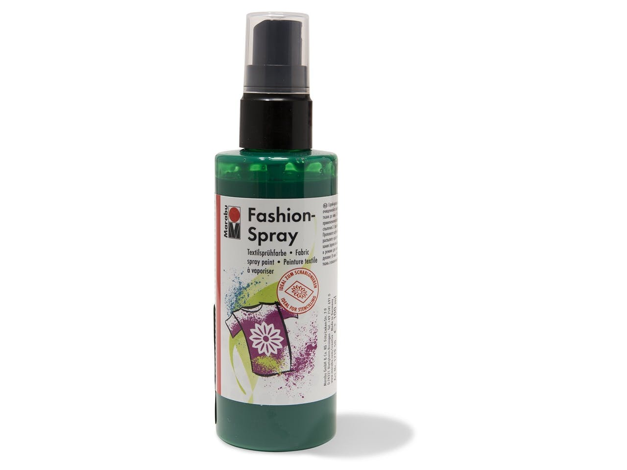 Marabu Fashion-Spray Textilsprühfarbe, Flasche, 100 ml, minze (153)