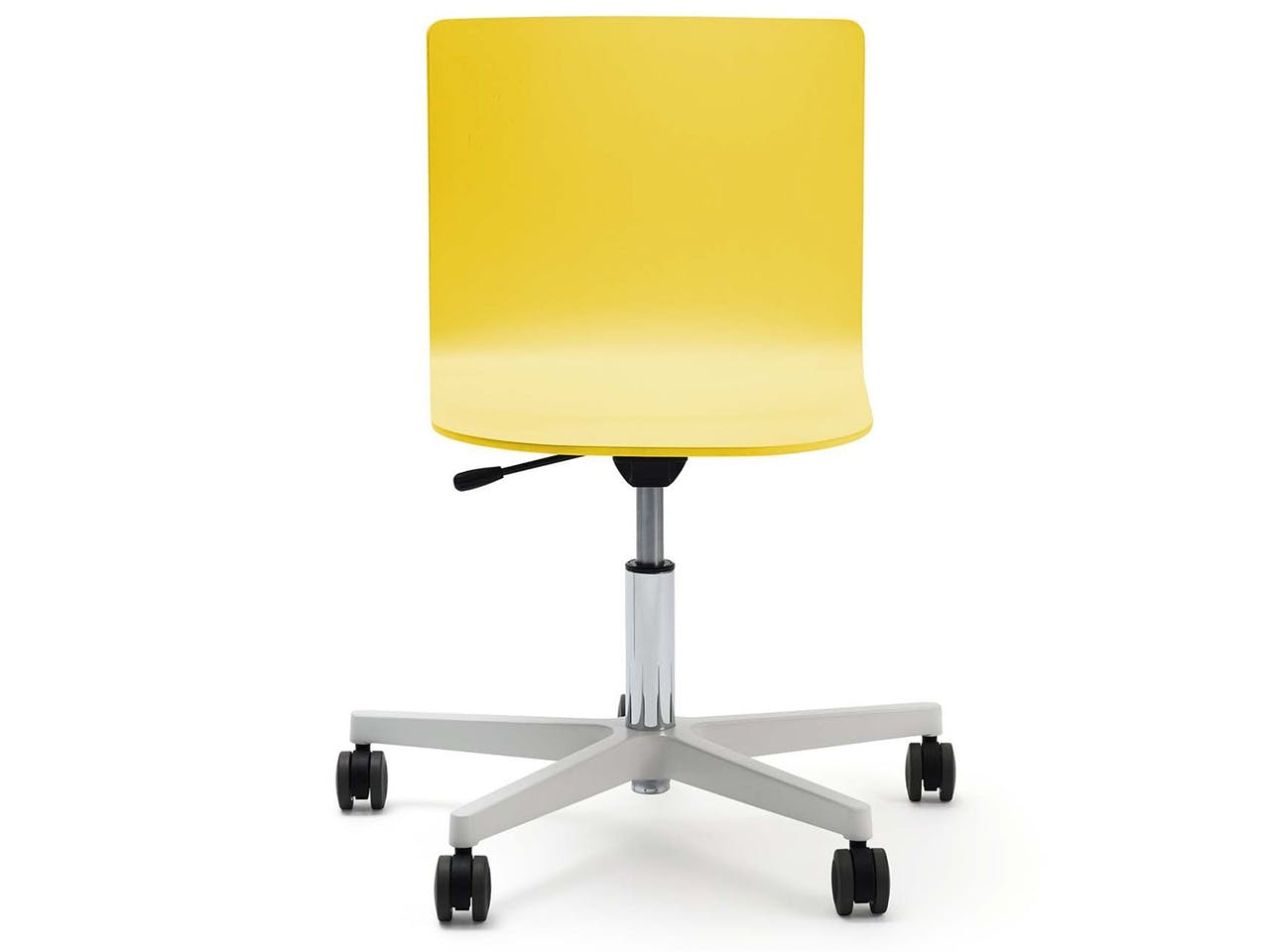 Bürostuhl Glyph, Drehkreuz mit Rollen, 750 - 880 x 610 x 610 mm, zinkgelb RAL 1018