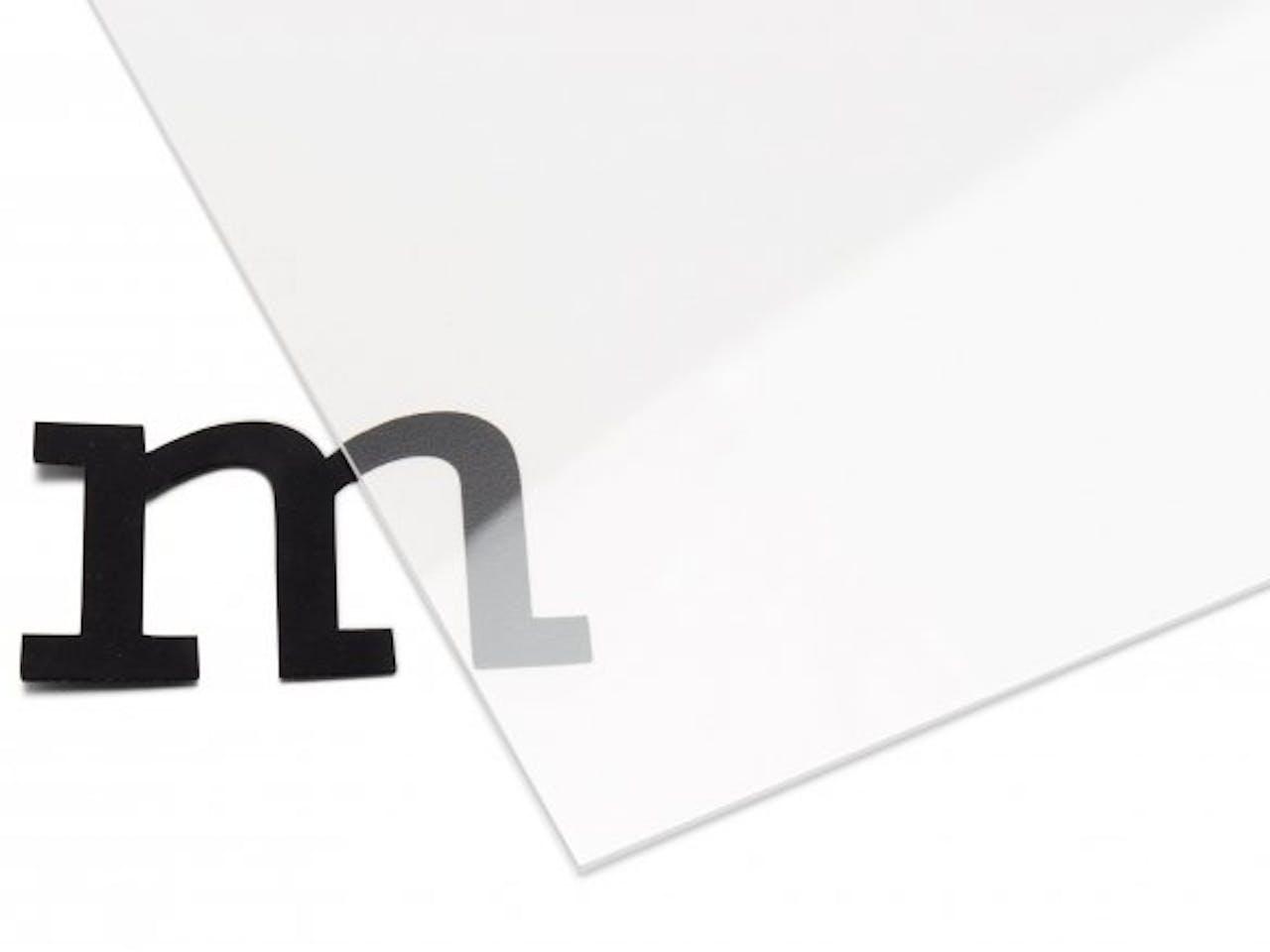 PLEXIGLAS® XT Platte transparent, antireflex, 1,50 x 250 x 500 mm