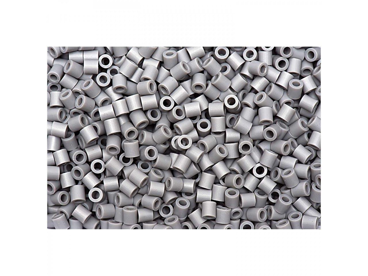 Bügelperlen, 50 x 50 mm, ca. 1000 Stück, hellgrau