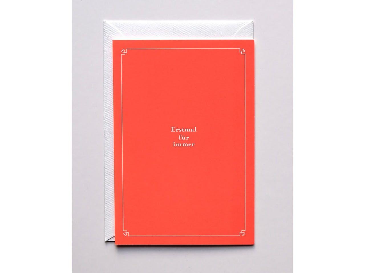 Haferkorn & Sauerbrey Grußkarte, DIN B6, Klappkarte mit Kuvert, Für Immer