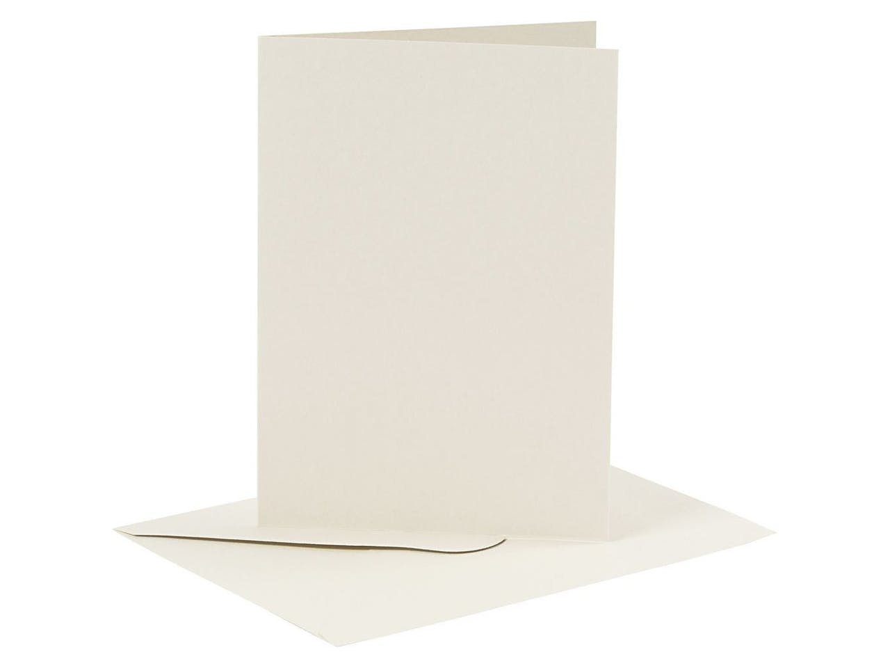 Blankokarten-Set, je 6 Klappkarten A6 & Kuverts C6, creme