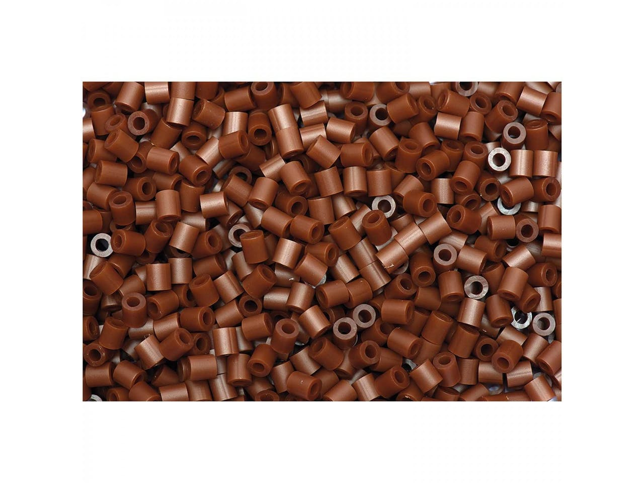 Bügelperlen, 50 x 50 mm, ca. 1000 Stück, dunkelbraun