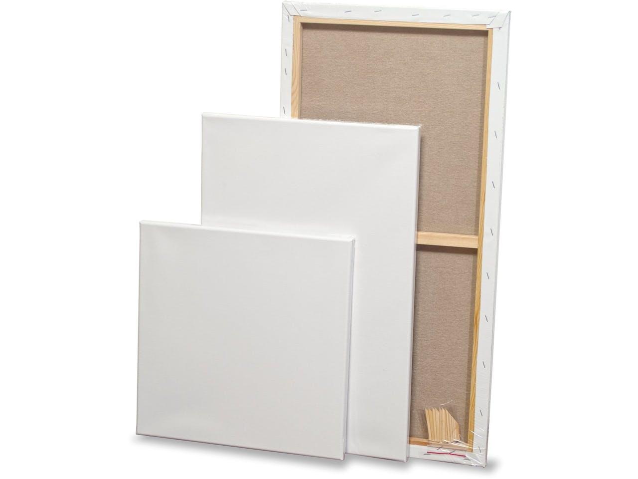 Keilrahmen Baumwollgewebe C, weiß, grundiert, 300 x 300 mm, LB = 35 mm