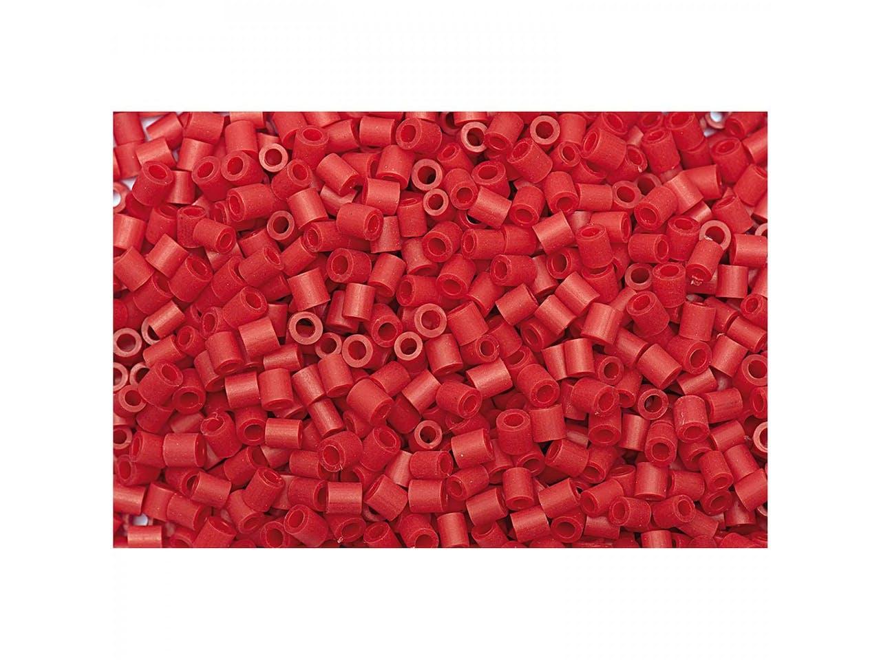 Bügelperlen, 50 x 50 mm, ca. 1000 Stück, rot