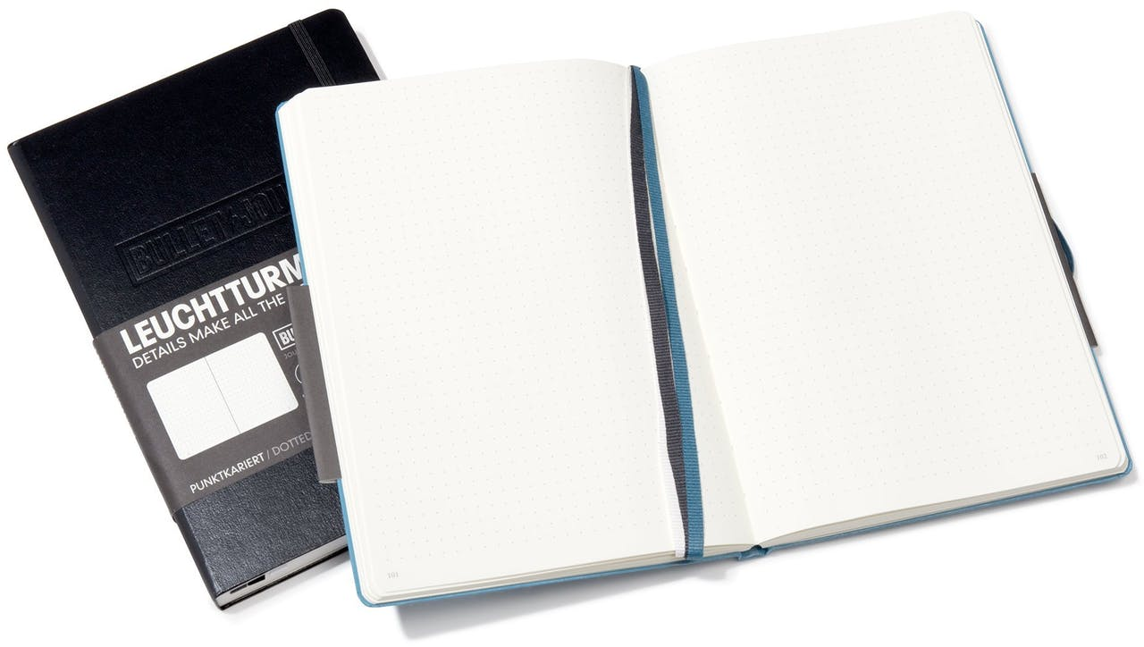 Leuchtturm Notizbuch Hardcover Bullet Journal, A5, Medium, punktkariert, 240 Seiten, nordic blue