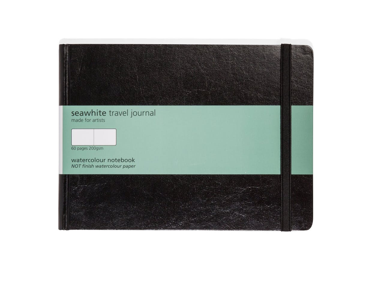 Seawhite Aquarellbuch Hardcover weiß 200 g/m², glatt, 210x148 mm, A5 QF, 30 Bl/60 S, Fadenheftung