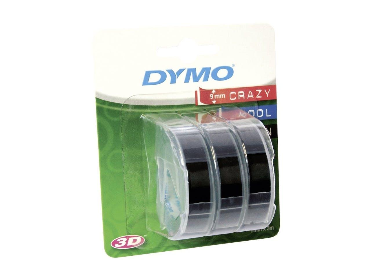 Dymo Prägebänder, Set, 3 Bänder, schwarz, je 3 Meter