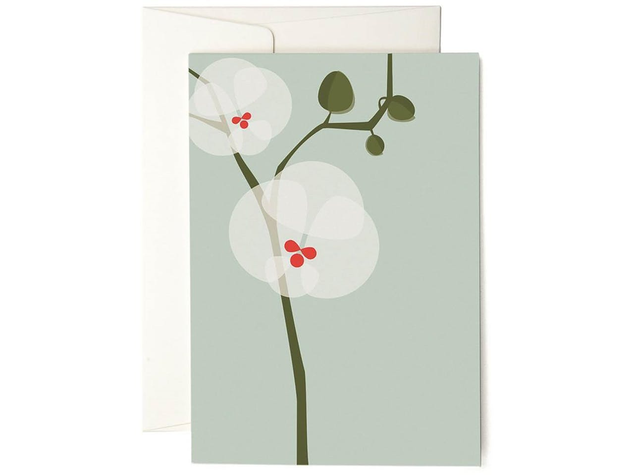 Pleased to meet Grußkarte, DIN A6/C6, Klappkarte mit Kuvert, Orchid