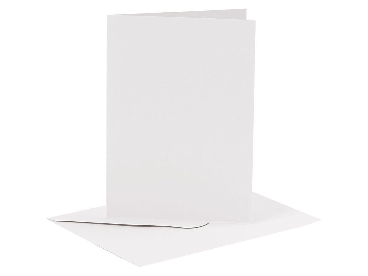 Blankokarten-Set, je 6 Klappkarten A6 & Kuverts C6, weiß