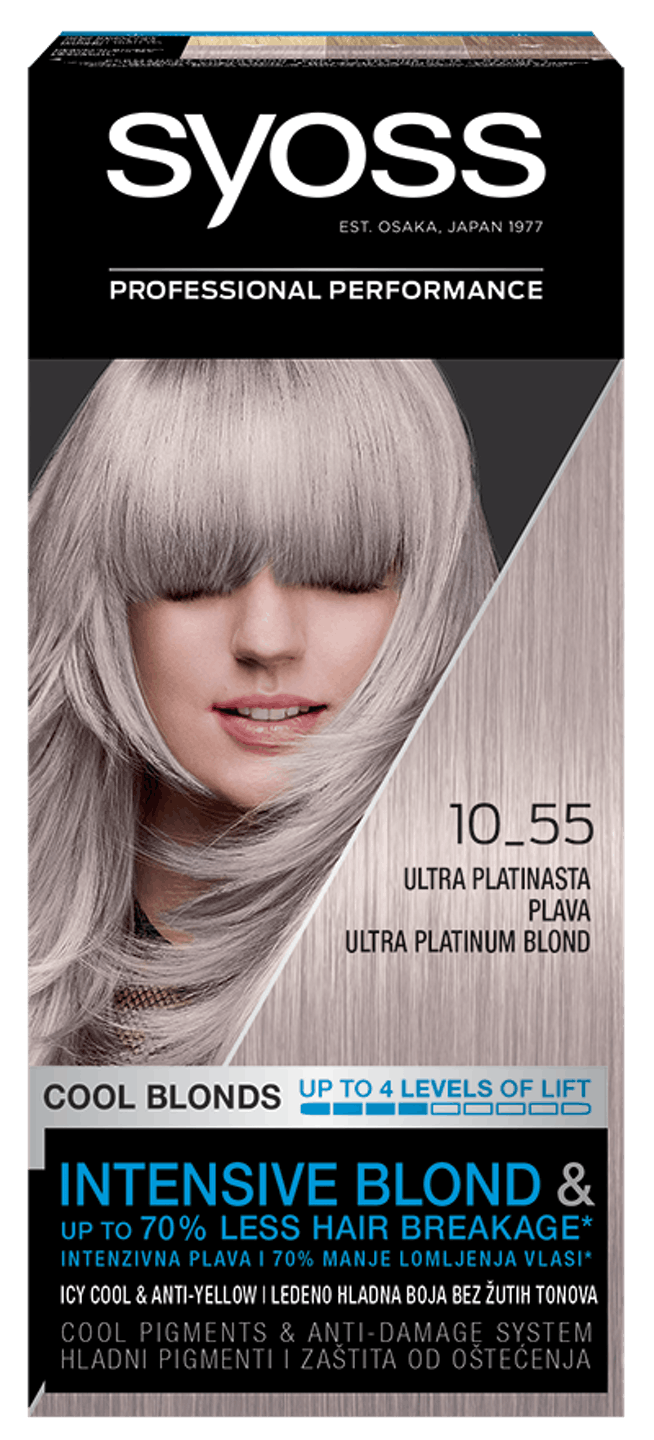 Syoss Permanent Coloration Ultra platinasto plava 10_55 shot pack