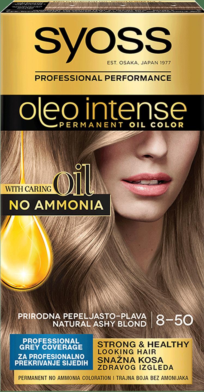 Syoss Oleo Intense trajna koloracija Prirodno pepeljasto plava 8-50