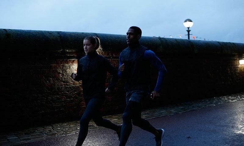 Läufer in der Morgendämmerung