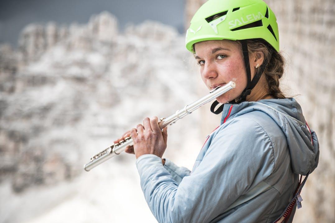 Eline Le Menstrel in den Dolomiten