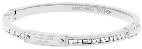 Bracelet MICHAEL KORS en Acier Argenté et Pierre Synthétique Blanche