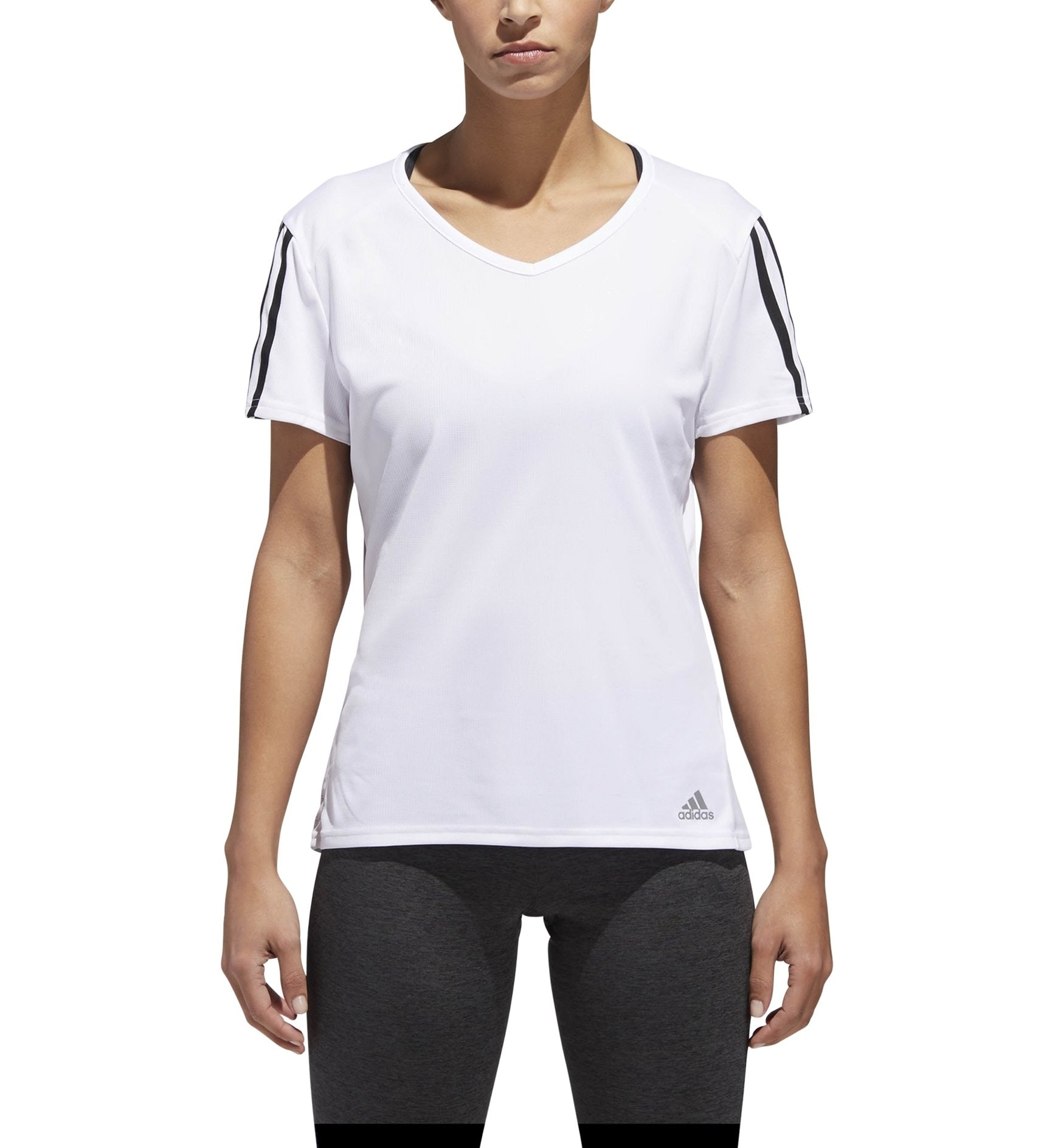 Adidas Run 3 Stripes - maglia running - donna