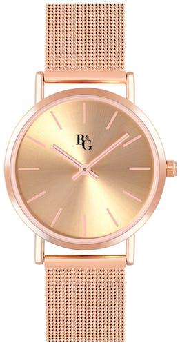 Cette montre B&G se compose d'un Boîtier Rond de 32 mm et d'un bracelet en Métal Rose