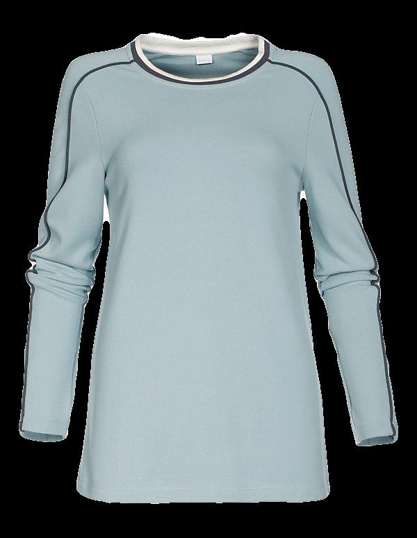 Lässiges Shirt mit Zierstreifen