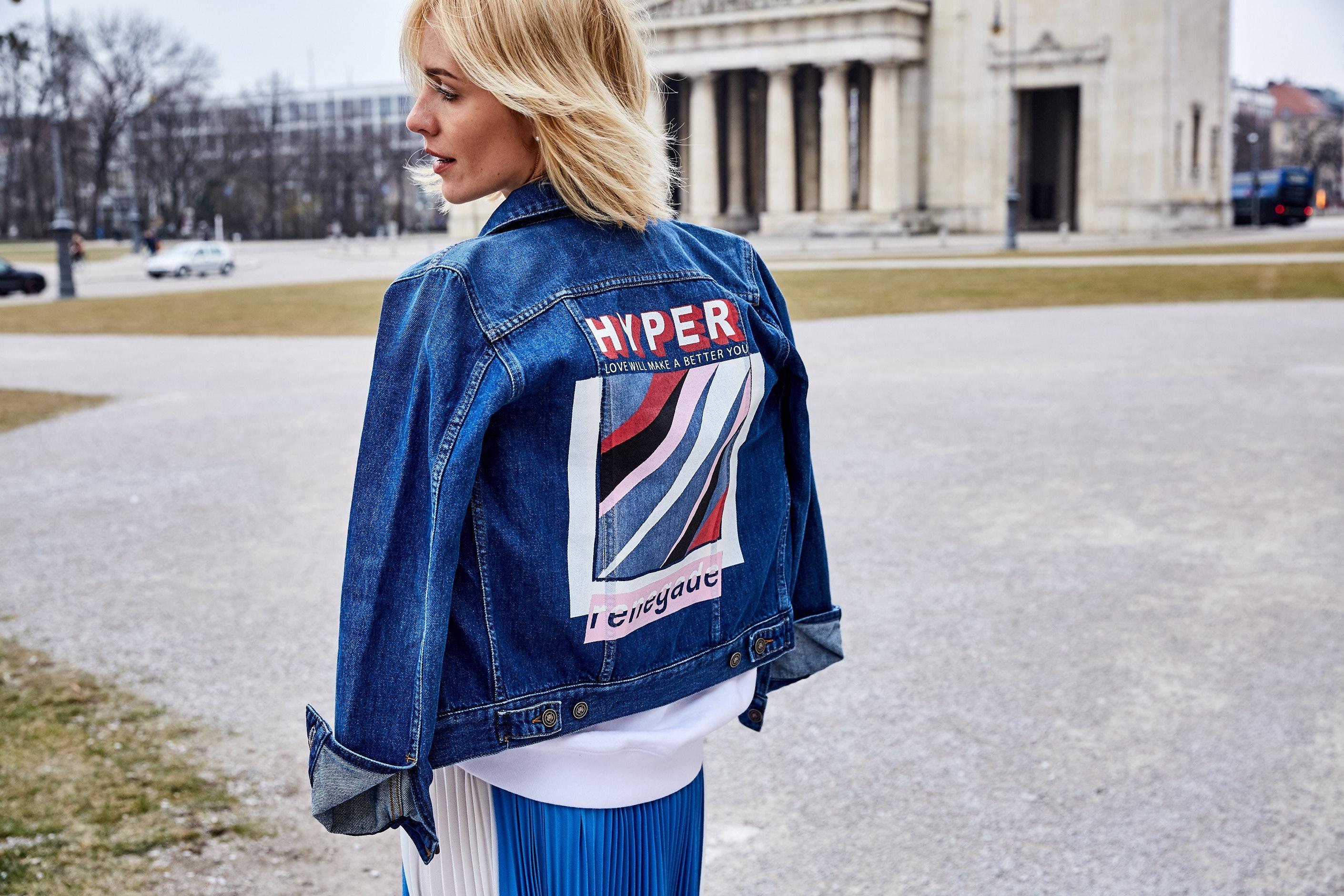 Glam-o-meter, Viktoria Rader, Spring Looks, Denim Jacket, Lodenfrey, Munich