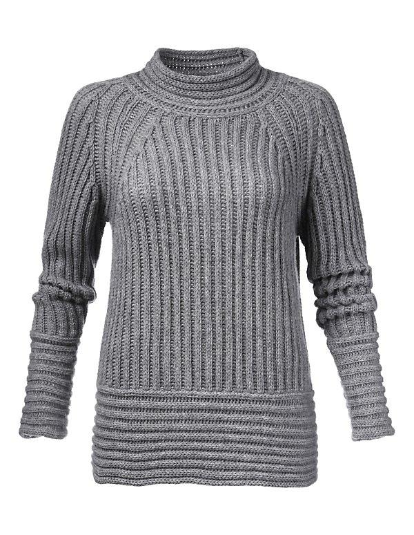 Grobstrick-Pullover aus Kaschmir