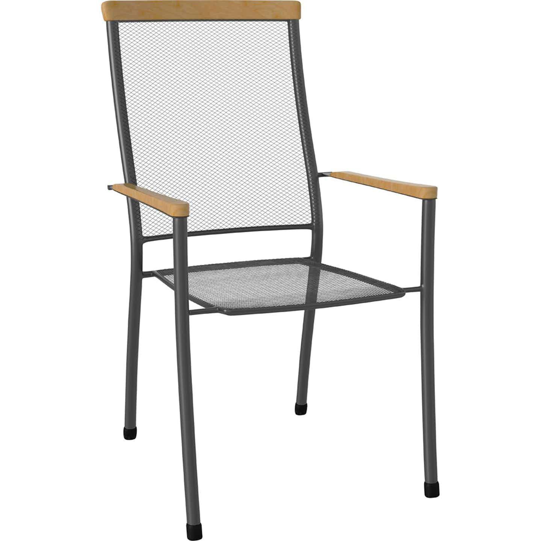 Krzesło Amarillo stal/ eukaliptus