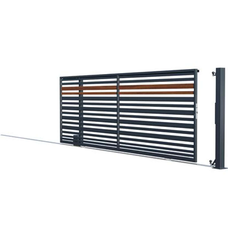 Polargos Brama Ora bez przeciwwagi lewa/prawa antracyt/drewno 400 x 152 cm