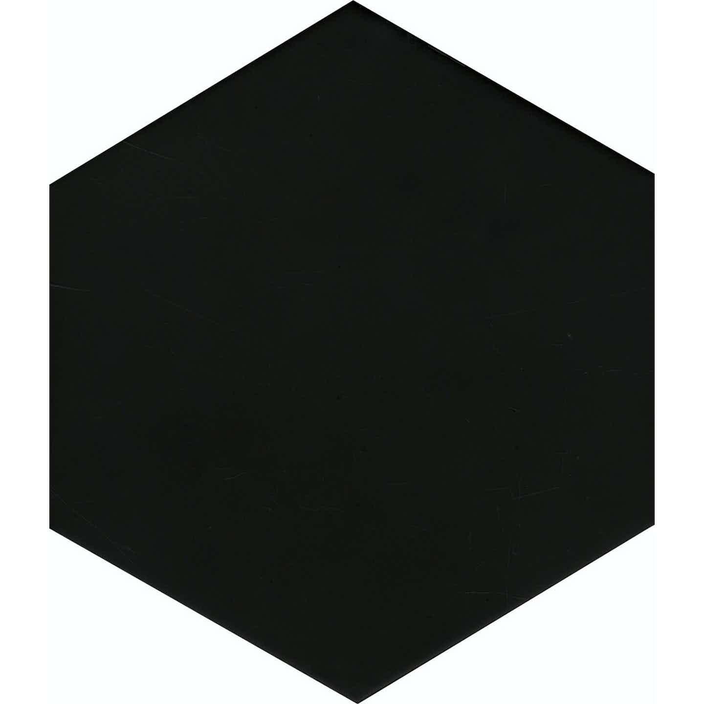 Gres szkliwiony SOLID hex black, 21,5 x 25 cm