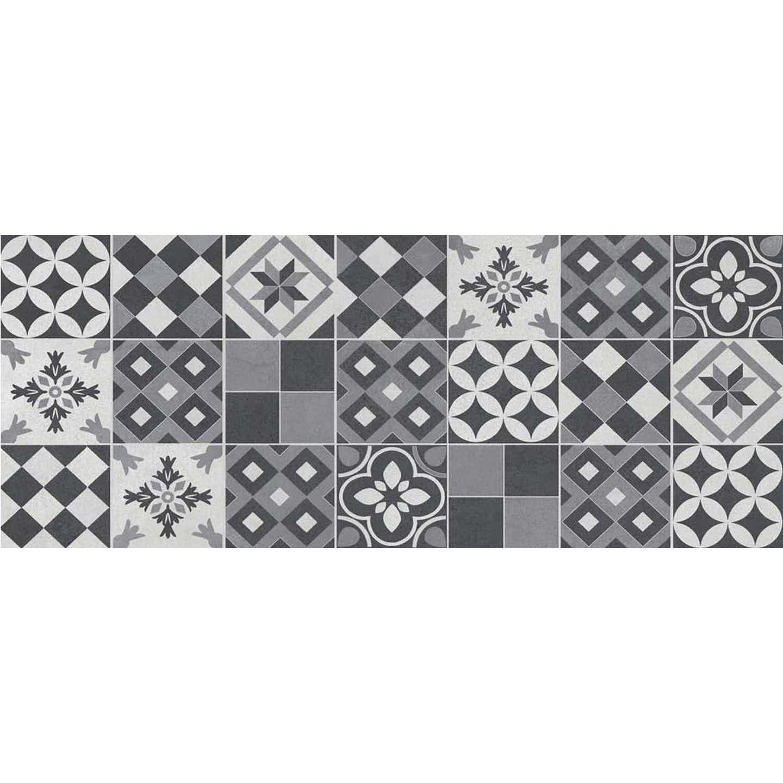 Dekor AMSTERDAM patchwork grey 20 cm x 50 cm