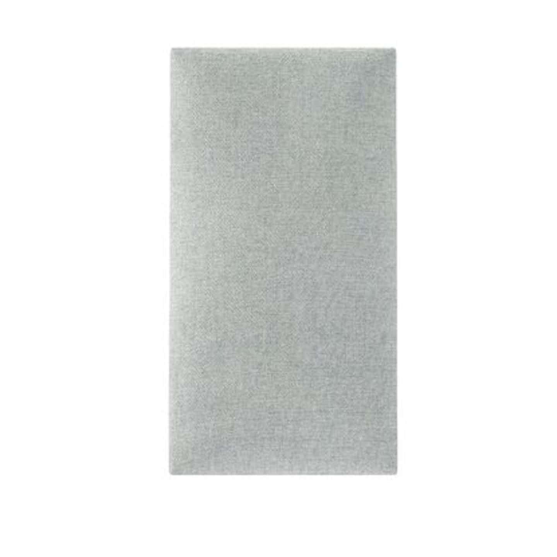 Panel tapicerowany Largo prostokąt 30 x 15 cm szary