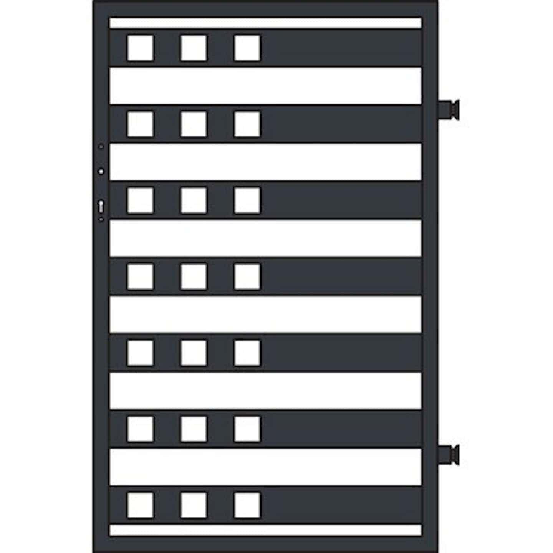 Jarmex Furtka Milano II antracyt mat prawa 93,6x145 cm