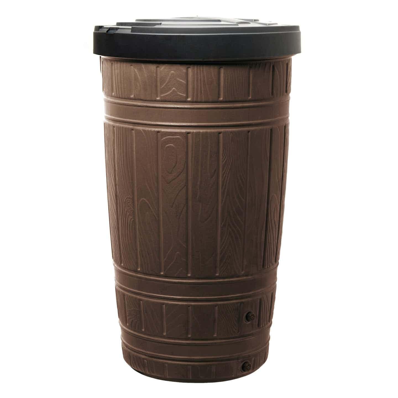 Prosperplast Zbiornik na deszczówkę Woodcan 265 L brązowy