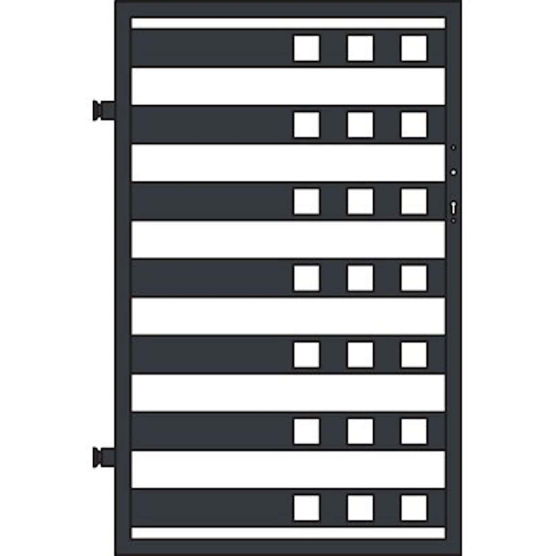 Jarmex Furtka Milano II antracyt mat lewa 93,6x145 cm