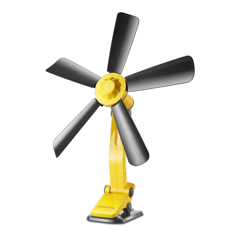 Volteno Wentylator z klipsem 42 cm 9W żółto-czarny