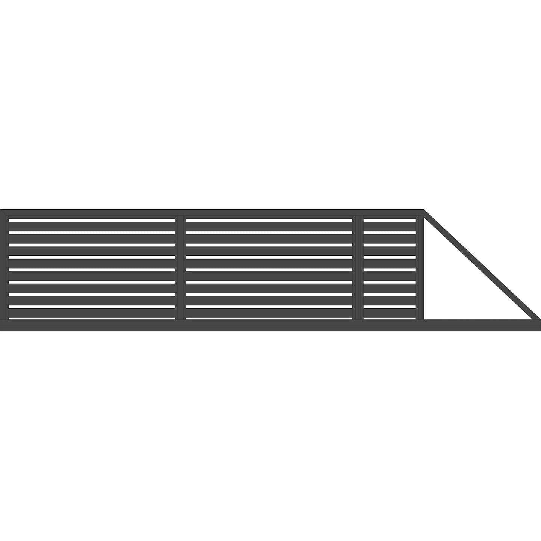 Jarmex Brama Trento przesuwna napęd prawa antracyt 400 cm x 140 cm