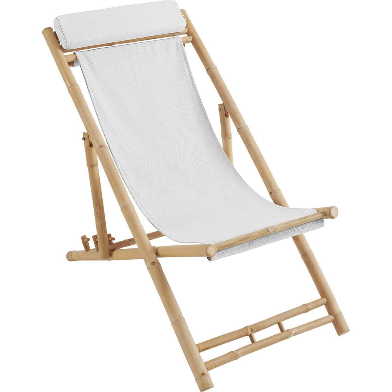 Leżak plażowy Soda Creek bambus 116x60x80 cm