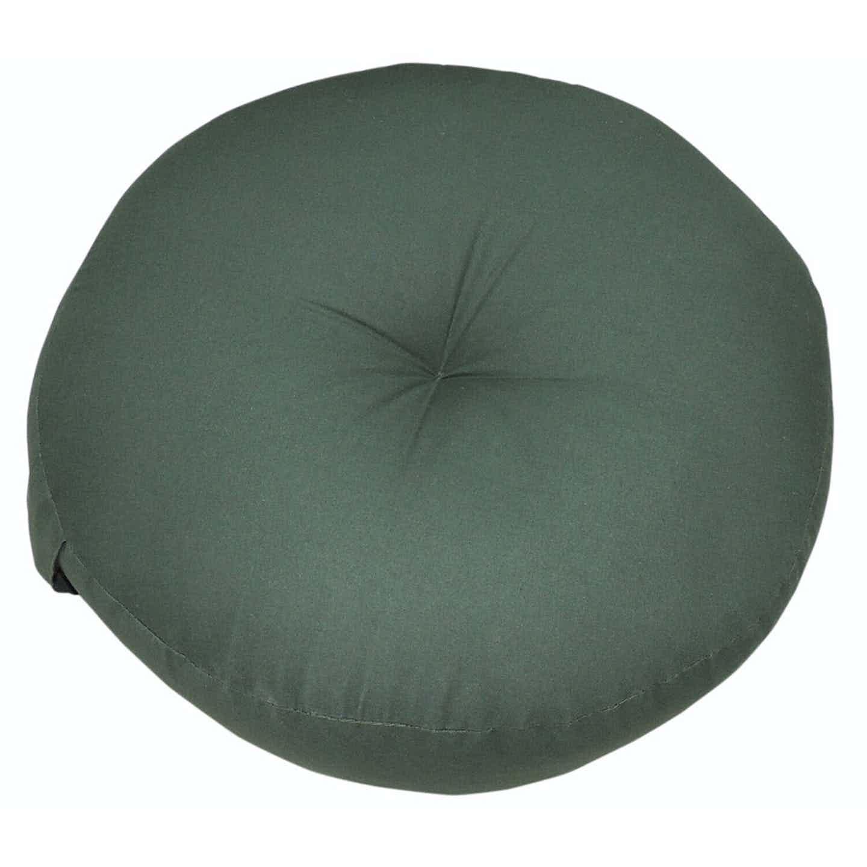 Poduszka siedzisko okrągła ciemno zielona 40x40x10cm