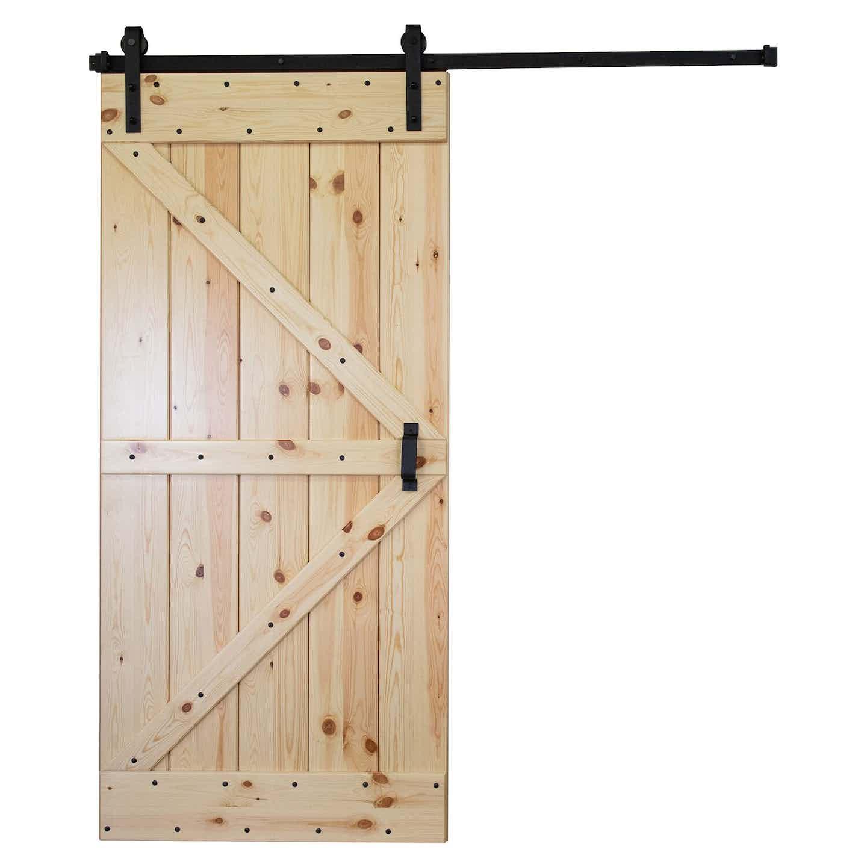 Kornik Drzwi Przesuwne Loft sosna sęczna 90 cm