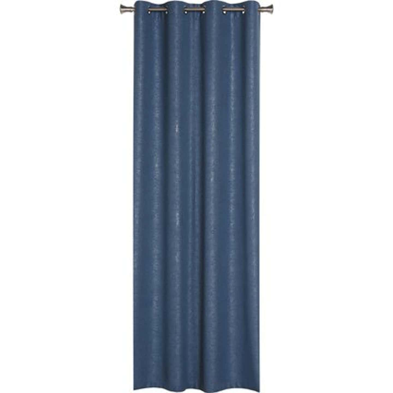 Zasłona LURE niebieska 140 cm x 260 cm na przelotkach