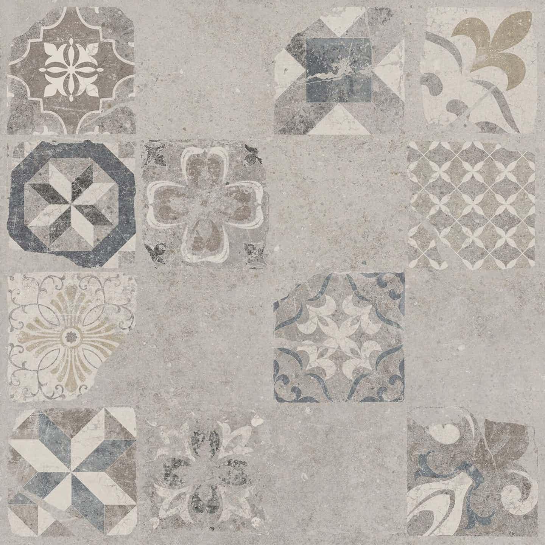 Gres szkliwiony VITORIA patchwork 59,3 cm x 59,3 cm