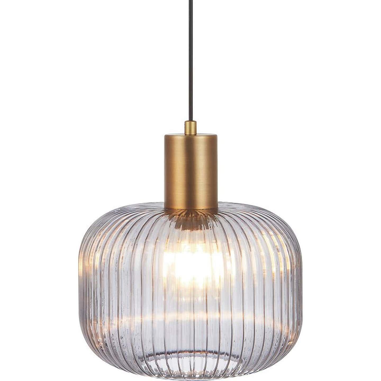 Lampa GLASS smoky śr. 25 cm 40W E27