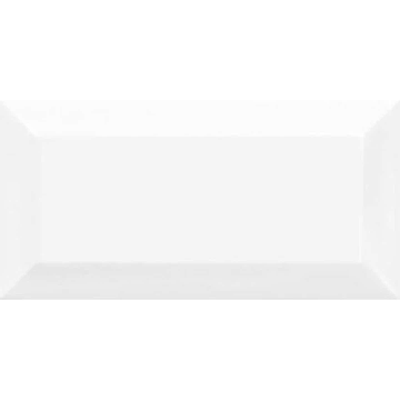Glazura METROTILES fazowana, biała, 10 cm x 20 cm